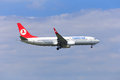 Turkish Airline Boeing 737 Royalty Free Stock Photo
