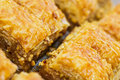 Turkish baklava also well known in middle east close up Stock Photo