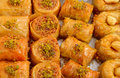 Turkish baklava is different types Stock Photos