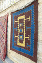 Turkish carpet hanging outdoor Stock Images