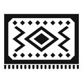 Turkish carpet icon, simple style