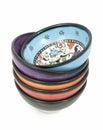 Turkish ceramic bowls Royalty Free Stock Photo