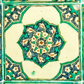 Turkish ceramic tile ottoman from the topkapi palace istanbul turkey Stock Photo
