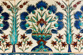 Turkish ceramic tile ottoman from the topkapi palace istanbul turkey Stock Photos