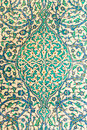 Turkish ceramic tiles ottoman from the topkapi palace istanbul turkey Stock Image
