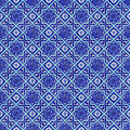 Turkish ceramics seamless background made of ceramic tiles Royalty Free Stock Image