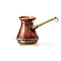 Turkish coffee pot Royalty Free Stock Photo