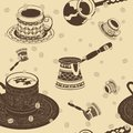 Turkish Coffee Seamless Pattern