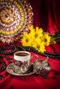 Turkish coffee set Royalty Free Stock Photo