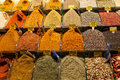 Turkish colored spices at grand bazaar colorful istanbul Stock Image