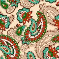 Turkish cucumber seamless pattern beige style ornate background Stock Photography