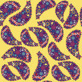 Turkish cucumber seamless pattern and seamless pa in swatch menu paisley oriental can be used for Stock Image