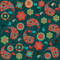 Turkish cucumber seamless pattern and seamless pa in swatch menu paisley oriental can be used for Stock Photos