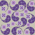 Turkish cucumber seamless pattern and seamless pat in swatch menu paisley oriental can be used for Stock Images
