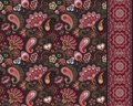 Turkish cucumbers. Oriental motif. Seamless ornament and border for fabrics, wallpaper, background. Vector illustration.