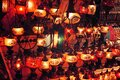 Turkish Decorative Lamps On Grand Market Bazaar At Istanbul,Turkey