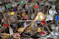 Turkish decorative souvenir spoons Royalty Free Stock Photo