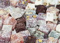 Turkish delight background of view from above Stock Photography