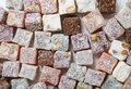 Turkish delight background of view from above Royalty Free Stock Photo