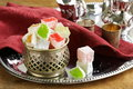 Turkish delight dessert rahat lokum different colors Royalty Free Stock Image
