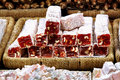 Turkish Delight with hazelnut Royalty Free Stock Photography