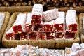 Turkish Delight with hazelnut Royalty Free Stock Photo