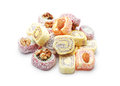 Turkish delight isolated on white Royalty Free Stock Photo