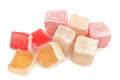 Turkish delight isolated on white background Royalty Free Stock Photo