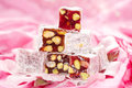 Turkish delight with pistachios nut Stock Photography