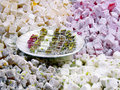 Turkish Delight plate Stock Photo