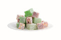 Turkish delight plate with view from above Stock Photos