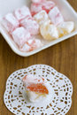 Turkish delight rahat lokum Stock Image