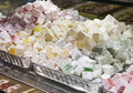 Turkish delight in a shop Royalty Free Stock Photography