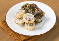 Turkish delight sweet taste delicious on plate Stock Photos