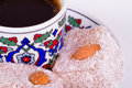 Turkish Delights with Coffee Royalty Free Stock Photo