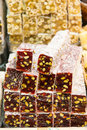 Turkish delights in spice bazaar Stock Images