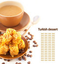 Turkish dessert, pie from coffee Royalty Free Stock Images