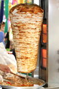 Turkish doner kebab. ( chicken doner ) Royalty Free Stock Photography