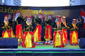 Turkish female dancers bright costumes