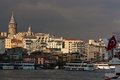 Turkish flag and Galata Tower Royalty Free Stock Photo