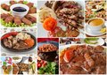 Turkish Foods Collage Royalty Free Stock Photo