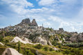Turkish fortress Uchisar Cappadocia Turkey Royalty Free Stock Photo