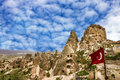 Turkish fortress Uchisar, Goreme landscape in Cappadocia, Turkey Royalty Free Stock Photo