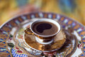 Turkish greek coffee is a method of preparing roasted and then finely ground beans are boiled in a pot cezve Royalty Free Stock Photography