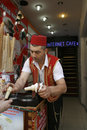 Turkish ice-cream seller. Istanbul Stock Images