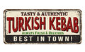 Turkish Kebab vintage rusty metal sign