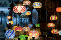 Turkish lamps sold in the old town market of mostar Stock Image