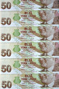 Turkish lira different banknotes of Stock Photos