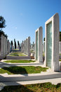 Turkish military cemetery memorial park for martyrs in canakkale turkey Stock Images