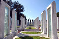 Turkish military cemetery memorial park for martyrs in canakkale turkey Royalty Free Stock Image